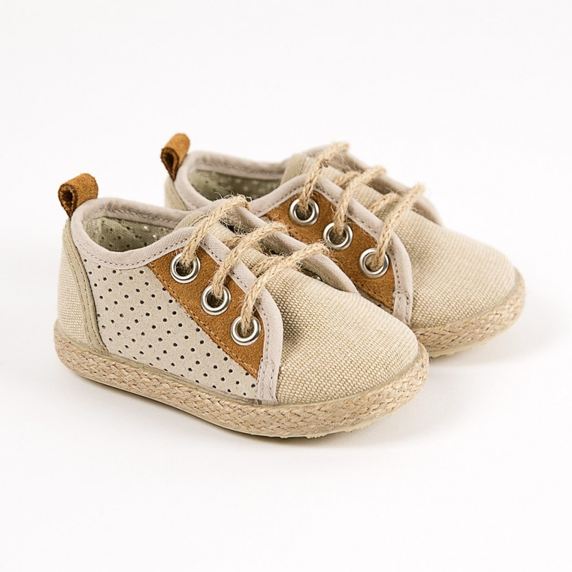 Zapato inglés combinado yute BAYON