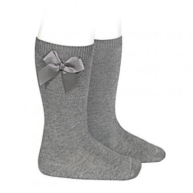 Calcetines altos algodon con lazo lateral CONDOR