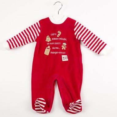 Pijama tundosado rayas navidad IDO