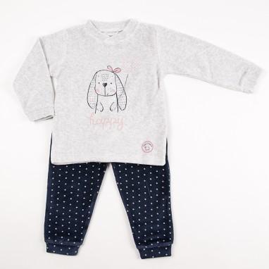 Pijama 2 piezas tundosado happy BAYON