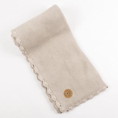 Manta algodón orgánico NIU Crochet Pale