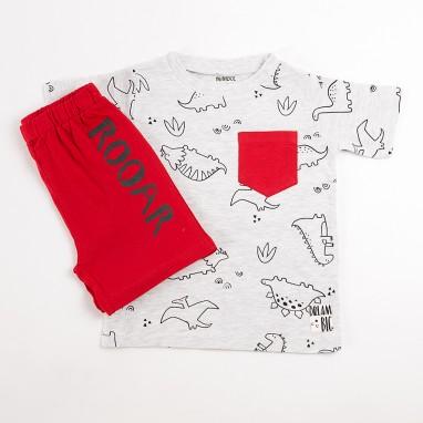 Pijama corto 2p Dinosaurios BAYON