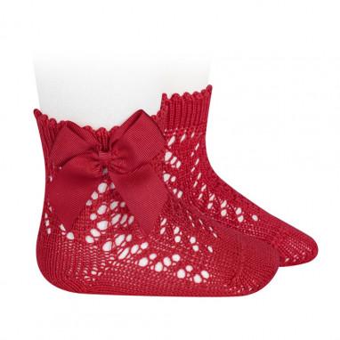 Calcetines cortos de perle calados con lazo CONDOR