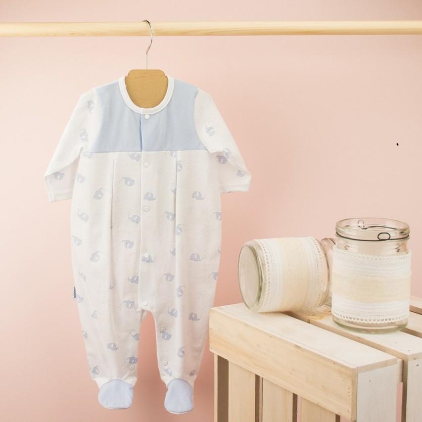 Pijama cuello volante bebé BABIDU