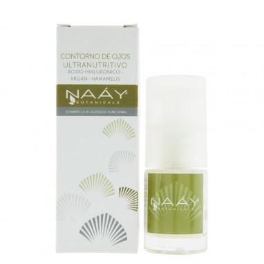Crema contorno de ojos ultra - nutritivo acido hialurónico argán y hamamelis NAAY