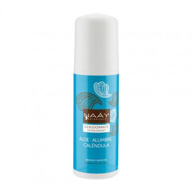 Desodorante de alumbre y aloe roll on sin aluminio 75 ml NAAY