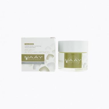 Crema facial pieles maduras de argán y ácido hialurónico 50 ml NAAY