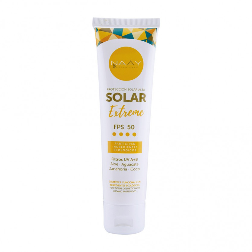 Crema solar extreme FPS 50 Aloe+Coco+Aguacate 100 ml NAAY