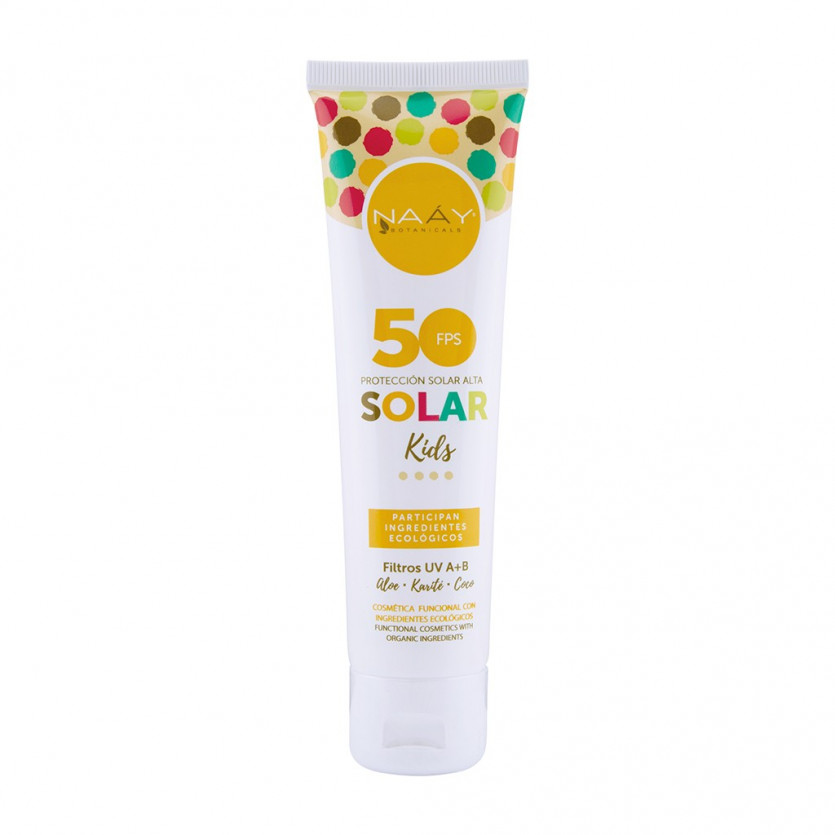 Crema solar kids FPS 50 Aloe+Coco+karite 100 ml NAAY