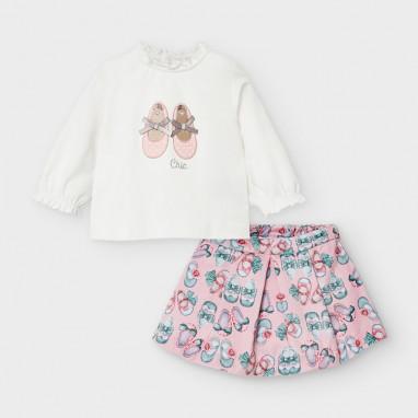 Conjunto camiseta y falda MAYORAL