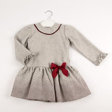 Vestido bebé lazo topitos BAYON