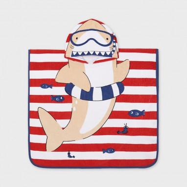 Toalla capa playa tiburon MAYORAL