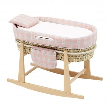 Moises bebe mio cuco + patas detroit rosa/cuadros 49x86x61 cm CAMBRASS