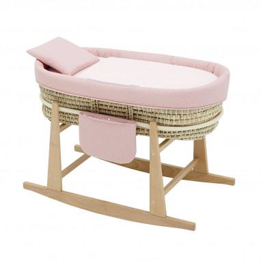 Moises bebe mio cuco + patas san francisco rosa 49x86x61 cm CAMBRASS