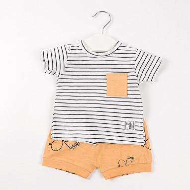 Conjunto camiseta rayas y short BAYON