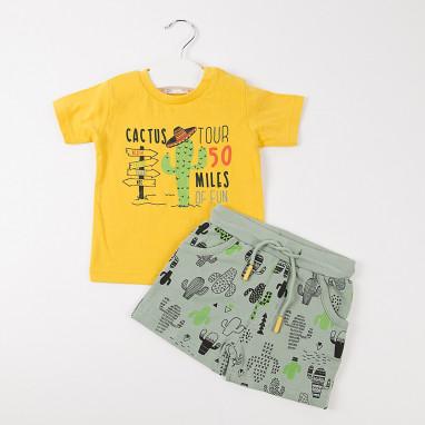 Conjunto camiseta estampada y short BAYON