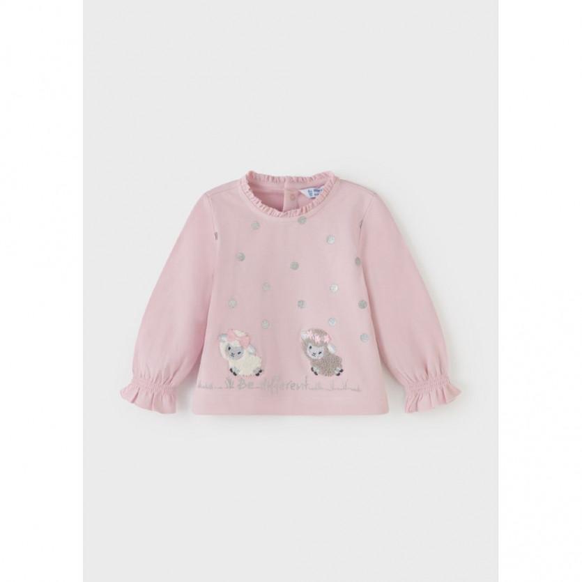 Camiseta m/l ovejitas MAYORAL