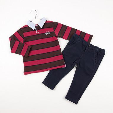 Conjunto polo rayas y pantalón BAYON