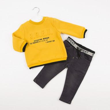 Conjunto sudadera relieves y pantalon BAYON