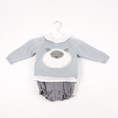 Conjunto 3 piezas jersey ovejita BAYON