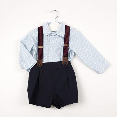 Conjunto blusa estampado y pantalón tirante BAYON