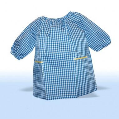 Baby colegio y guardería azul y blanco - babi