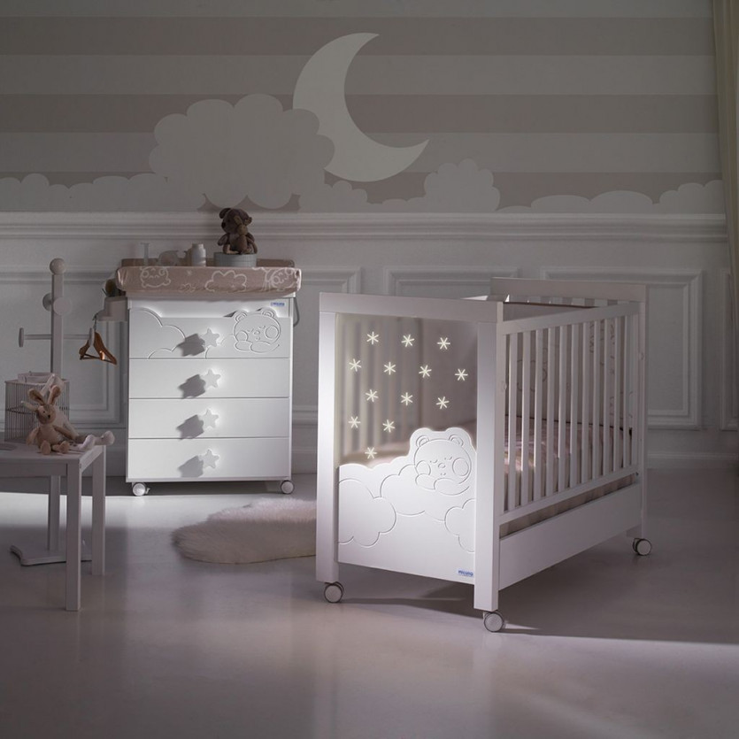 Cuna MICUNA Dolce Luce con Leds 120x60