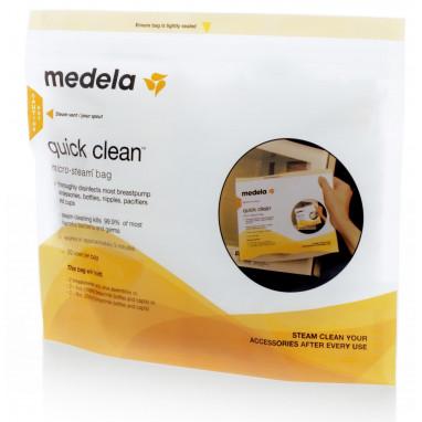 Bolsa para esterilización al vapor en microondas medela