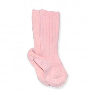 Calcetin media canalé condor 500 rosa