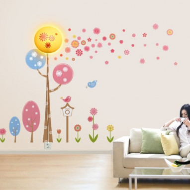 Lampara pared + sticker JP4KIDS girl fantasy room