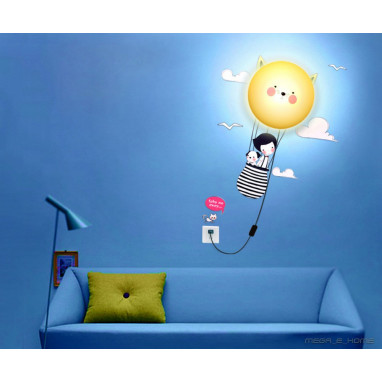 Lampara pared + sticker JP4KIDS Flyinng girl