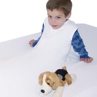 Pack de 2 sábanas de protección y seguridad 100% algodón para cama
