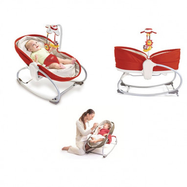 Hamaca-cuco 3 en 1 tiny love rocker napper roja