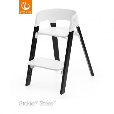Silla STOKKE® Steps™ Oak Wood Blanco