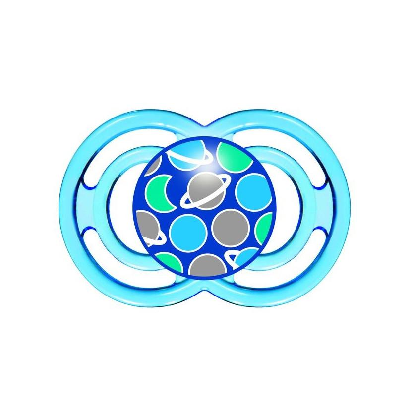 Chupete mam perfect silicona +6 meses symbols blue