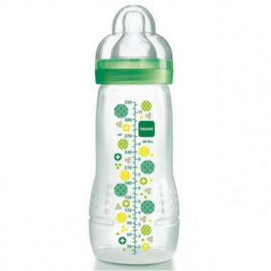 Biberon silicona mam baby bottle 330 ml 4+ meses circles green