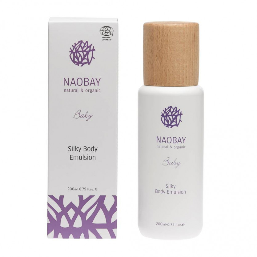 Silky body emulsion Ecocert Baby NAOBAY 200 ml