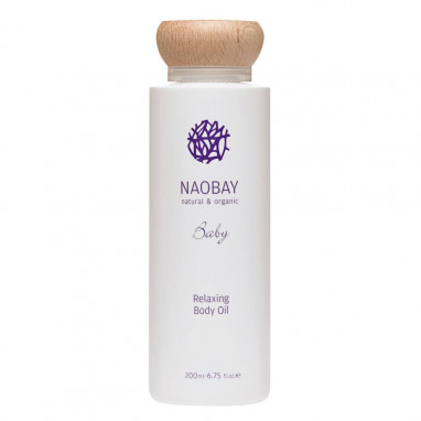 Relaxing body oil Ecocert Baby NAOBAY 200 ml