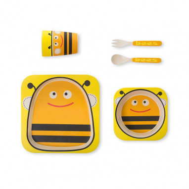 Vajilla eco biodegradable abeja MS