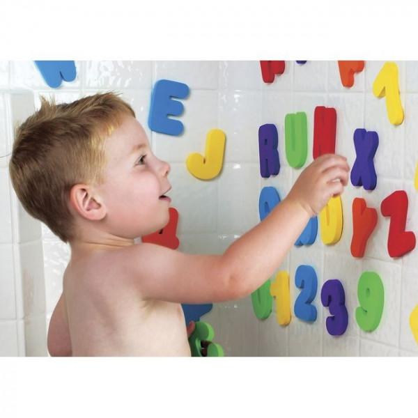 Juguete de letras y números para el baño munchkin