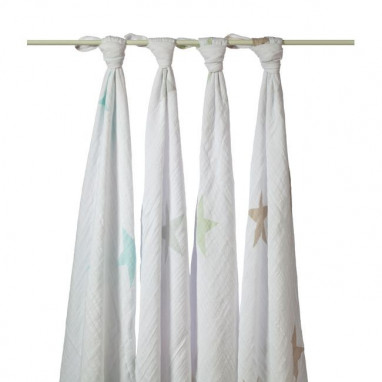Muselina fular swaddle aden anais star scout 1 ud
