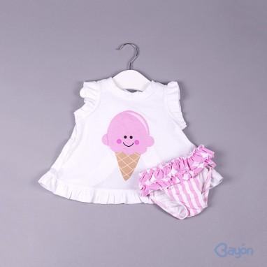 Conjunto camiseta helado y culetin BAYON