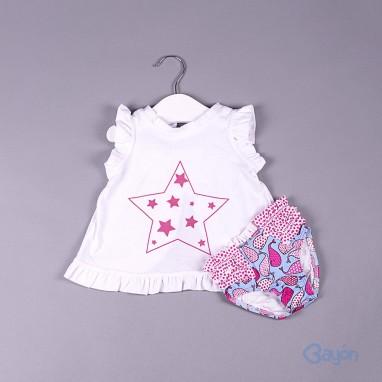 Conjunto camiseta estrellas y culetin BAYON