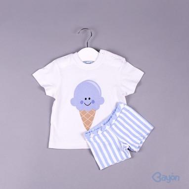 Conjunto camiseta helado y bañador BAYON