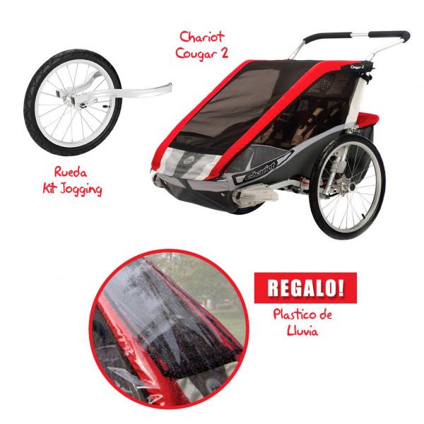 Coche CHARIOT Cougar 2 + Kit Jogging + Rain Cover de REGALO!!!