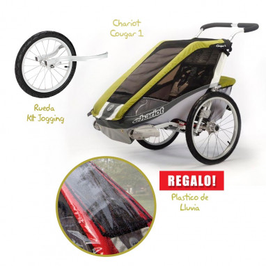 Coche CHARIOT Cougar 1 + Kit Jogging + Raincover de REGALO!!!