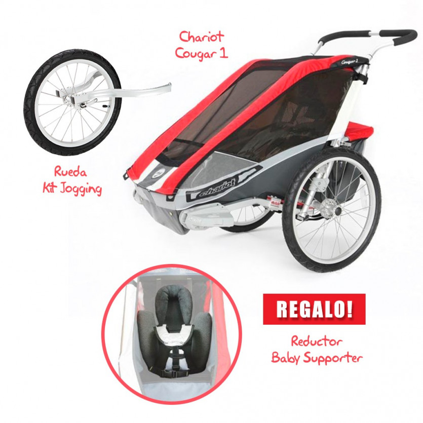 Coche CHARIOT Cougar 1 + Kit Jogging + Baby Supporter de REGALO!!!
