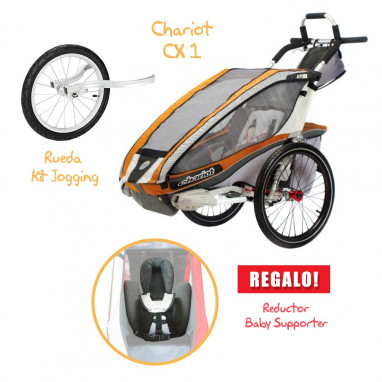 Coche CHARIOT CX 1 + Kit Jogging + Baby Supporter de REGALO!!!