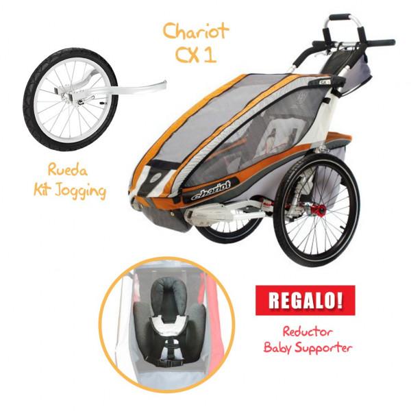 Coche CHARIOT CX 1 + Kit Jogging + Baby Supporter de REGALO!!!