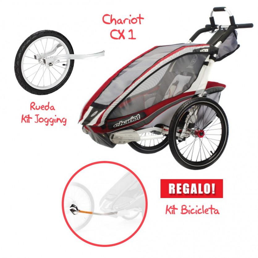 Coche CHARIOT CX 1 + Kit Jogging + Kit Bicicleta de REGALO!!!